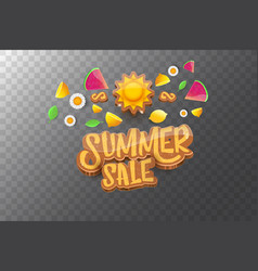 Sammer sale horizontal banner with text vector