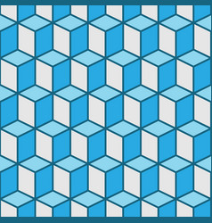 Seamless cubes background vector