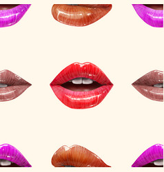 seamless pattern made of sexy lips vector image