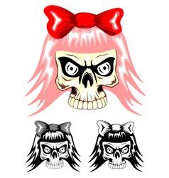 skull emo dwa vector image