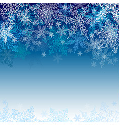 snowflakes greeting card with a snowy pattern vector image