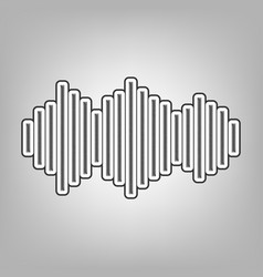 sound waves icon pencil sketch imitation vector image