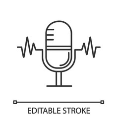 speech recognition linear icon vector image