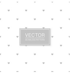 stylish seamless hearts pattern - simple vector image