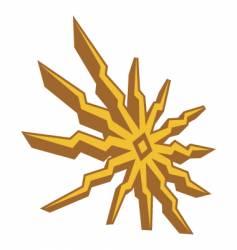 Sun shape vector