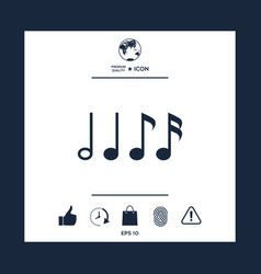 Symbol of music notes sixteenth note eighth vector