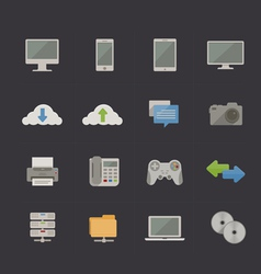 Tech and Communication Metro Retro icons vector
