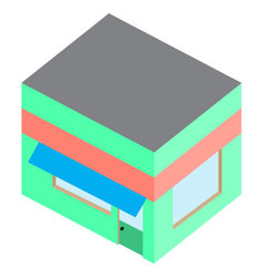 Template isometric building home shop house vector image
