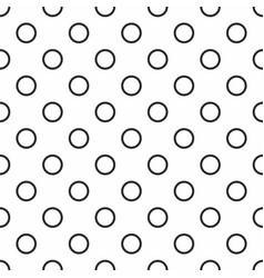 tile pattern with black and white dots seamless vector image