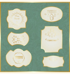 Vintage Labels with Golden Borders vector image vector image
