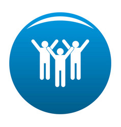 winning teamwork icon blue vector image