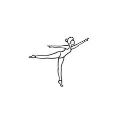 Woman dancing hand drawn outline doodle icon vector