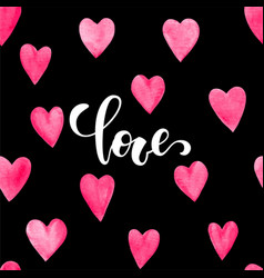 word love hand drawn brush pen lettering with vector image