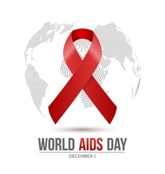 World aids day 1st december aids day hiv vector