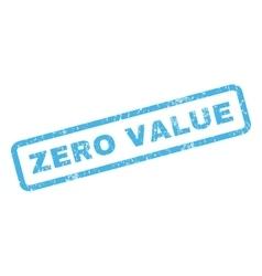 Zero Value Rubber Stamp vector