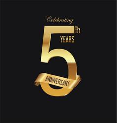 anniversary retro vintage badge 2 vector image