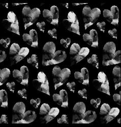 black hearts seamless pattern vector image vector image