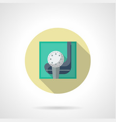 golfing flat round icon vector image vector image