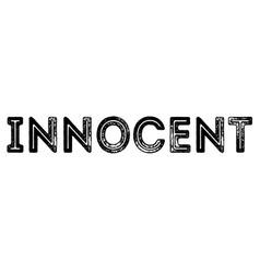 Innocent typographic stamp vector