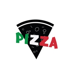 pizza slice italy vector image vector image