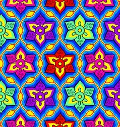 Rangoli seamless pattern vector image vector image