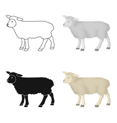 Sheep icon in cartoon style isolated on white vector