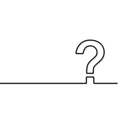 the question mark vector image vector image