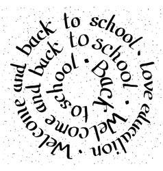 Welcome and Back to school lettering card vector image