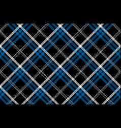 black check seamless diagonal fabric texture vector image vector image