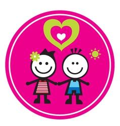 children sticker vector image vector image