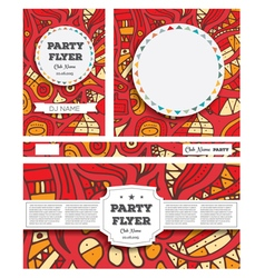 Club Flyers with copy space and hand drawn vector image vector image