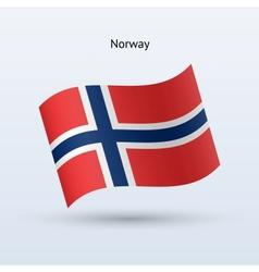 Norway flag waving form vector image
