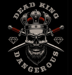 skull king vector image vector image