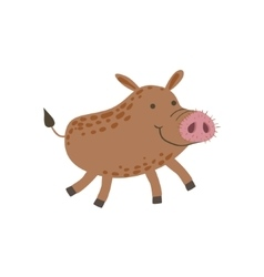 Smiling Wild Boar Running vector image vector image