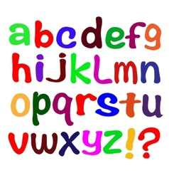 The English alphabet on a white background vector image vector image