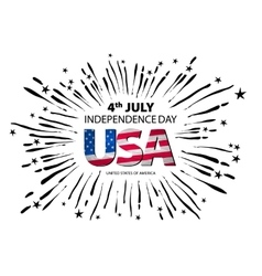 4th of July independence day background vector image vector image