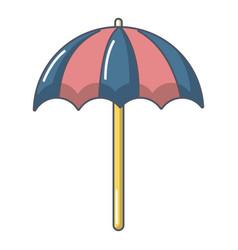 beach umbrella icon cartoon style vector image
