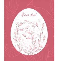 egg floral pink vector image vector image