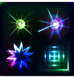 Glow effect vector image