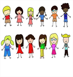 World children set vector