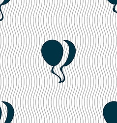 Balloon Icon sign Seamless pattern with geometric vector image vector image
