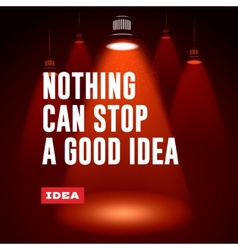 Idea concept nothing can stop a good idea vector