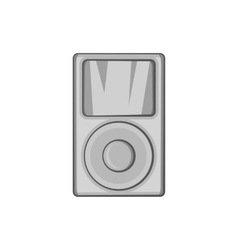 Music player icon black monochrome style vector image vector image