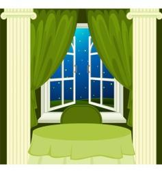 open window at night vector image