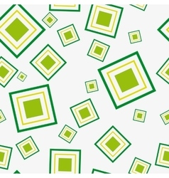 Seamless pattern with green squares vector image vector image