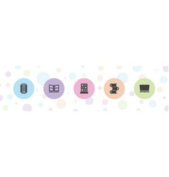 5 cover icons vector