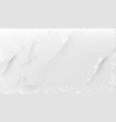 abstract christmas snowflakes and snow background vector image