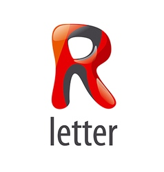 Abstract colorful logo letter R vector image