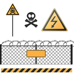 abstract warning signs set vector image vector image