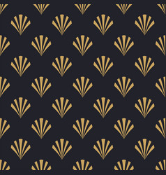 Art deco retro gold abstract seamless pattern vector